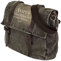 Borsa Avirex Messenger Line 140506 Canvas Washed and Leather