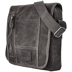 Borsello Avirex RJ90 Flap Canvas Stonewash Black-Grey