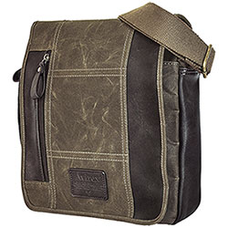 Borsello Avirex RJ90 Flap Canvas Stonewash Brown-Mud