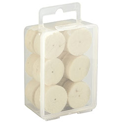 Pack of 30 wool cylinder