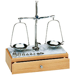 Loading scales with marble base