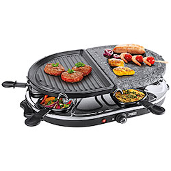 Raclette 8 Oval Stone & Grill Party Princess