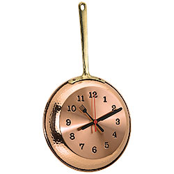 Copper Pan Clock