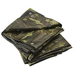 Camouflage groundsheet with eyelets