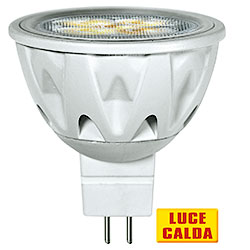 Lampadina a Led Faretto MR16 6W Luce Calda