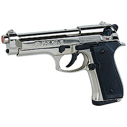Pistola a salve Beretta 92 calibro 8 Nickel Bruni