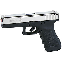 Glock 17 pistola a salve Gap calibro 8 nickel Bruni