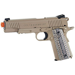 Replica Softair Cybergun Colt M45A1 Rail Gun 6mm Desertan