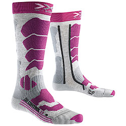 Calze Donna X-Socks Ski Control 2.0 Light Grey-Violet
