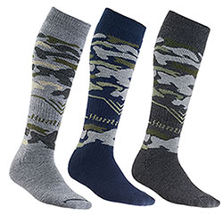 Set 3 Calze uomo Long Hunting Camo New