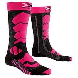 Calze Donna X-Socks Ski Control 2.0 Antracite-Fucsia