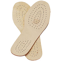 Ventilated leather insole