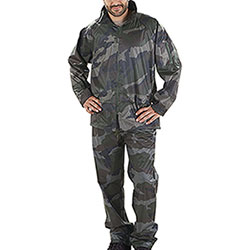 Camouflage-design waterproof suit