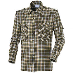 Camicia Flanella uomo Earth Green