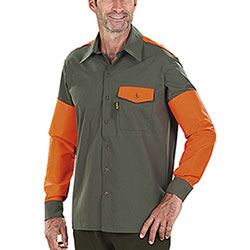 Over Shirt Kalibro Tracker Green Orange HV Cotone e Cordura