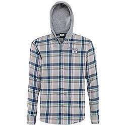 Camicia Jeep ® Hooded Checked Light Grey/Blue/Green original