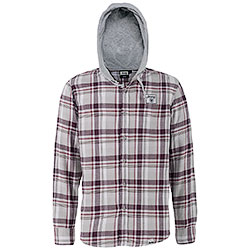 Camicia Jeep ® Hooded Checked Light Grey/Bordeaux/Red original