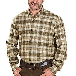 Camicia flanella Kalibro Snipe Flannel Beige