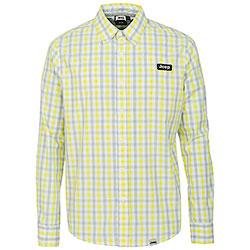 Camicia Jeep ® Cotton Check Aqua Blue/Pale Yellow original