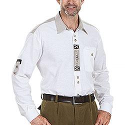 Camicia uomo Alpen Double Button White and Sand