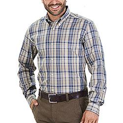 Camicia Beretta Classic Beige Blu Check