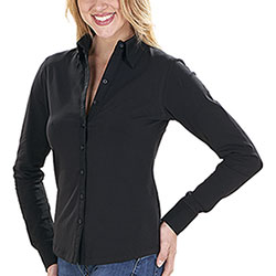 Camicia donna Elasticizzata Fit Stretch Top Black
