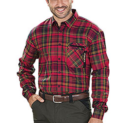 Camicia Härkila Newton Fiery Red Check