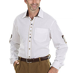 Camicia Alpen Light White Deer Edelweiss
