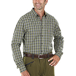 Camicia Tom Collins Olive Green Check