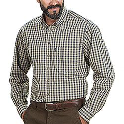 Camicia uomo Tom Collins Green Regular Check