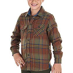Camicia bambino Seeland Nolan Sequoia Rust Check