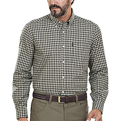Camicia flanella uomo Beretta Cotton Button Down Green Check