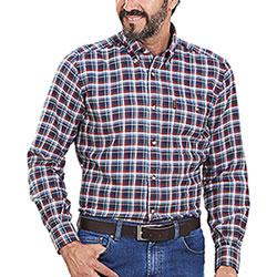 Camicia flanella uomo Beretta Cotton Flannel Blu Navy White Red