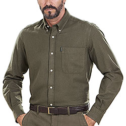 Camicia flanella uomo Beretta Winter Cotton Flannel Green Sage