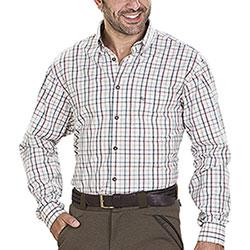 Camicia uomo Tom Collins Leeds Ecrù Green Red Check