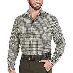 Camicia uomo Slim Fit Roger Green e Olive Little Check