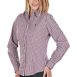 Camicia Donna Eloise Bordeaux White Check