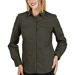 Camicia Donna Ginevra Dark Hunting Green