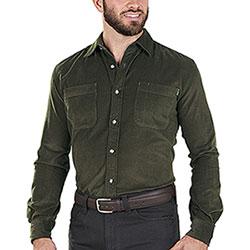 Camicia uomo Beretta Corduroy Green