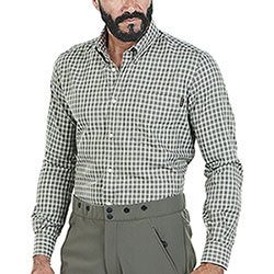 Camicia flanella uomo Beretta Wood Green Check Fancy