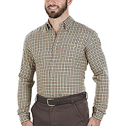 Camicia flanella uomo Beretta Wood Flannel Beige Orange Check