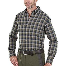 Camicia flanella uomo Beretta Wood Flannel Green Blu Check