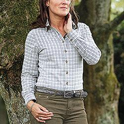 Camicia Donna Baleno Nina Check Sand Blu