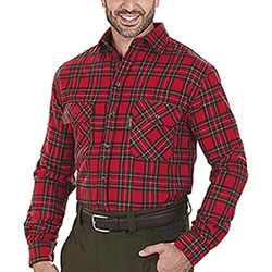 Camicia uomo Kalibro Winter Wool Check Red Green