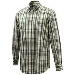 Camicia Beretta Wood Button Down Green Cream Check M/L