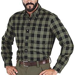Overshirt Beretta Zippered Pocket Green Black Check
