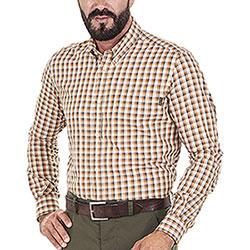 Camicia uomo Beretta Wood Beige Rust Check