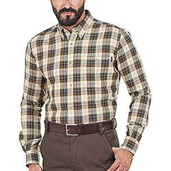 Camicia uomo Beretta Wood Flannel Beige and Green