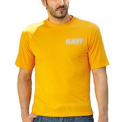 T-Shirt Navy Yellow Originale Americana