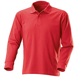 Long Sleeve Polo-Shirt Red